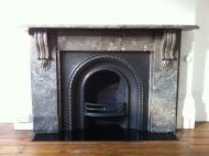 3b. After - Cast iron fireplace restoration