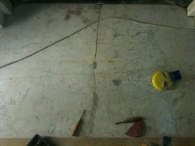 1e. Before Work - Marble Repairs to White Marble Hearth